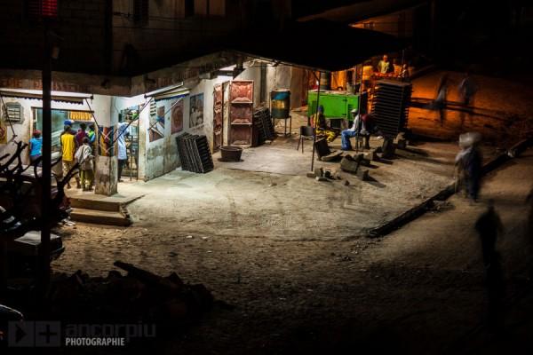 Una calle en Guediawaye, Dakar.